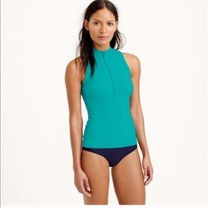 JCrew turquoise sleeveless rash guard